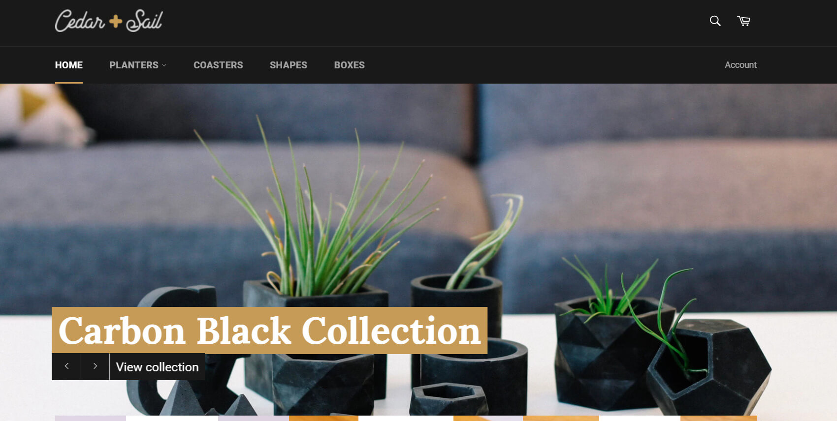 cedar + saul cabon black collection
