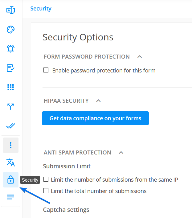 123 Form Builder Security Options