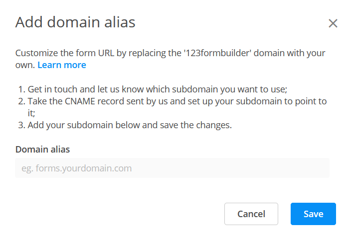 Domain aliasing